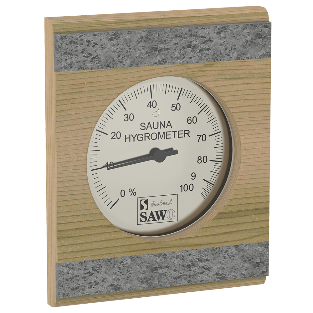 Sawo Hygrometer 280-HRD, With stone strip, Cedar