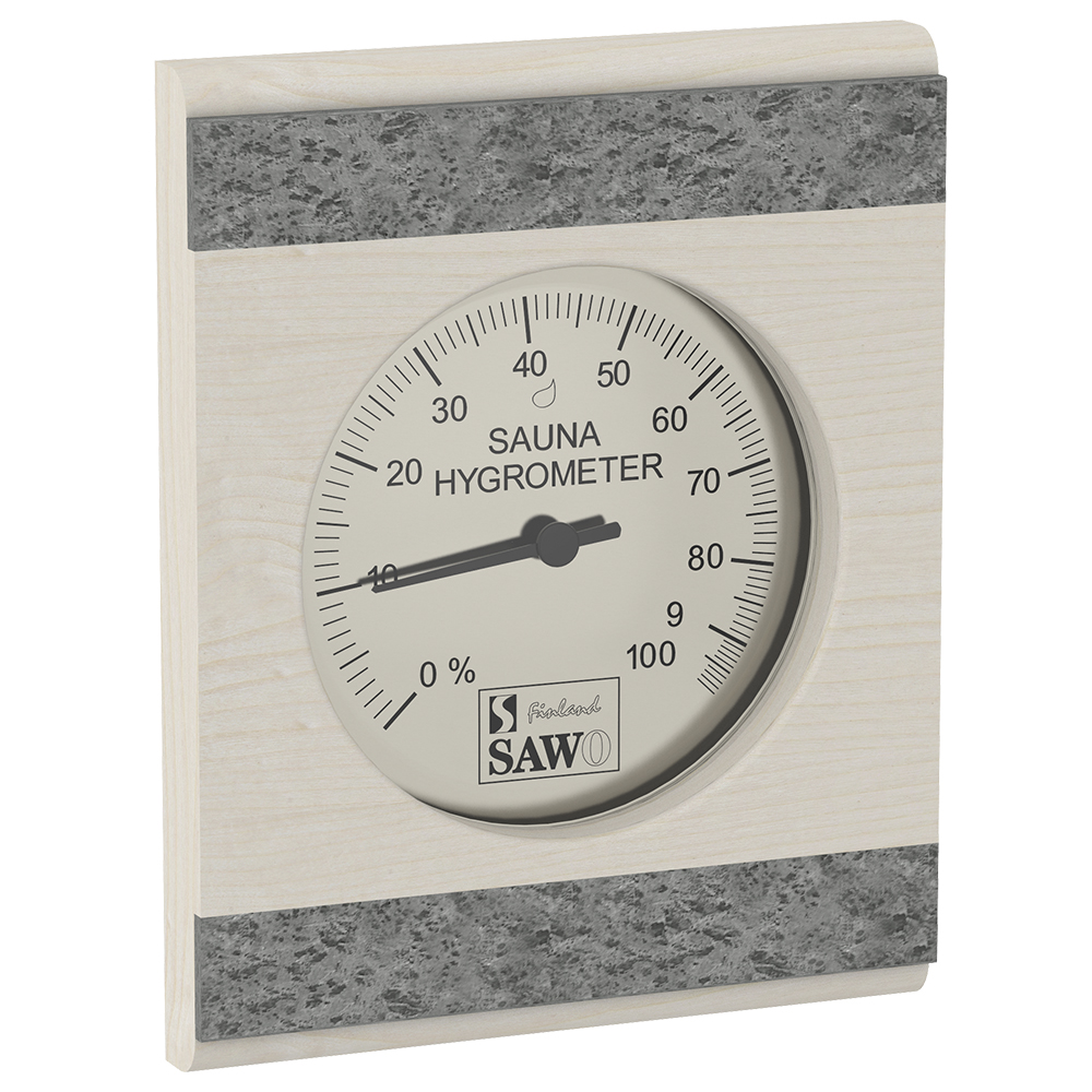 Sawo Hygrometer 280-HRA, With stone strip, Aspen