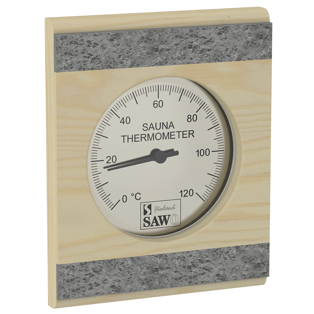 Sawo Thermometer 280-TRP, With stone strip, Pine