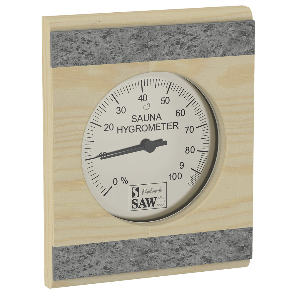 Sawo Hygrometer 280-HRP, With stone strip, Pine