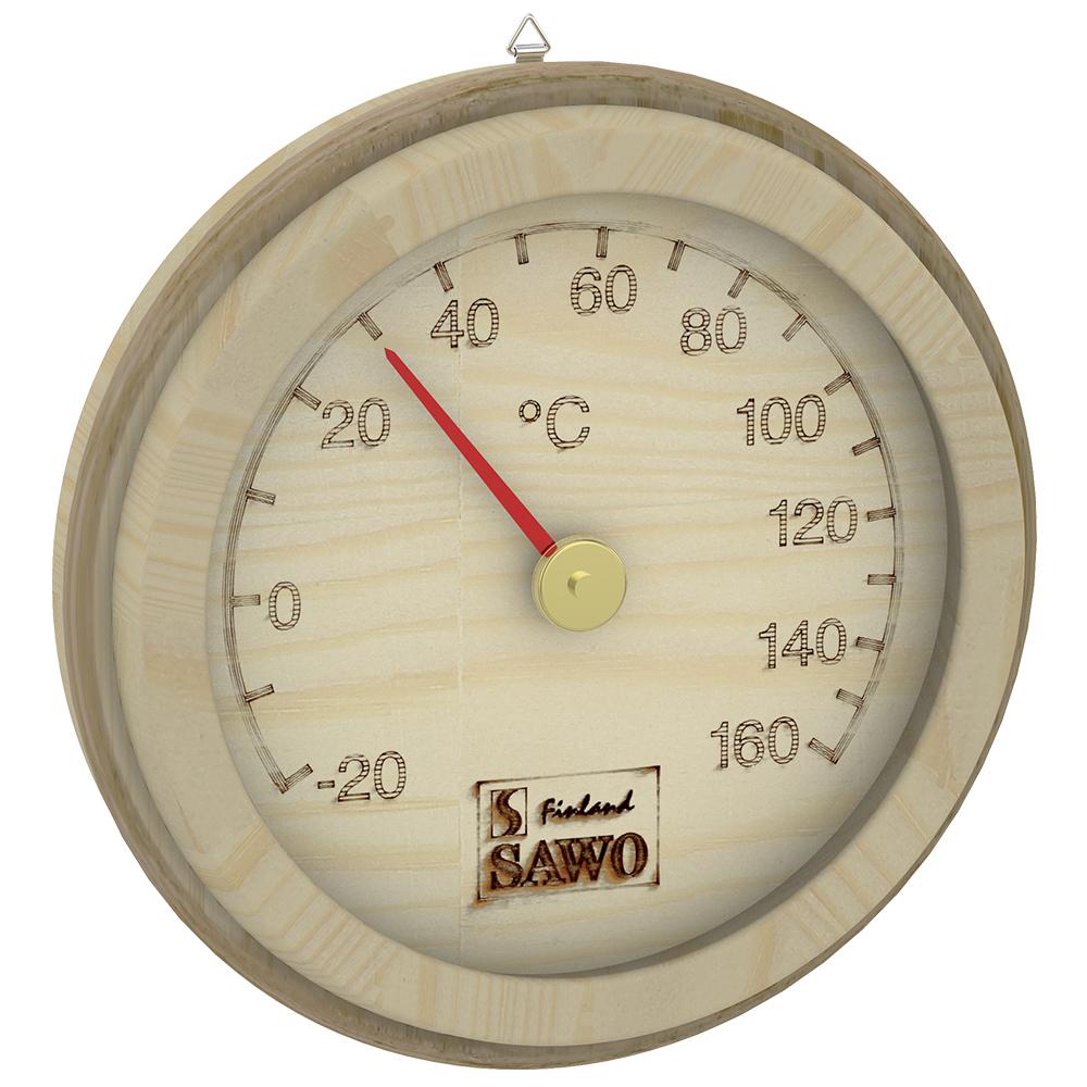 Sawo Thermometer 175-TP, Rattan, Pine