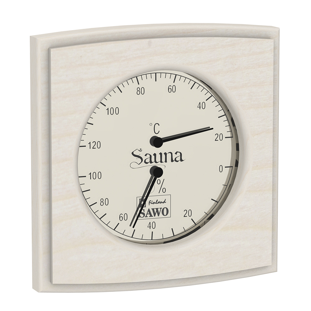 Sawo Thermo-Hygrometer 285-THA, Rectangular, Aspen