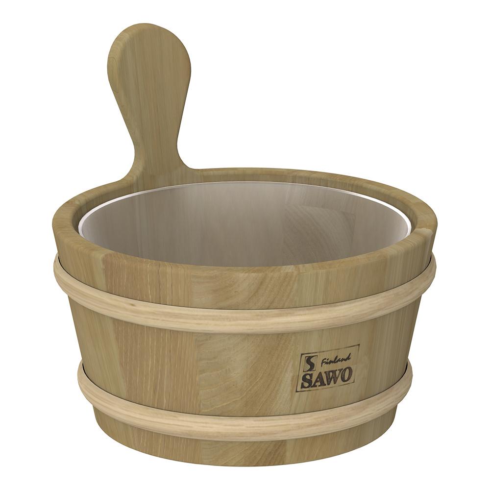 Sawo Bucket 330-D, 3L with plastic insert, Cedar