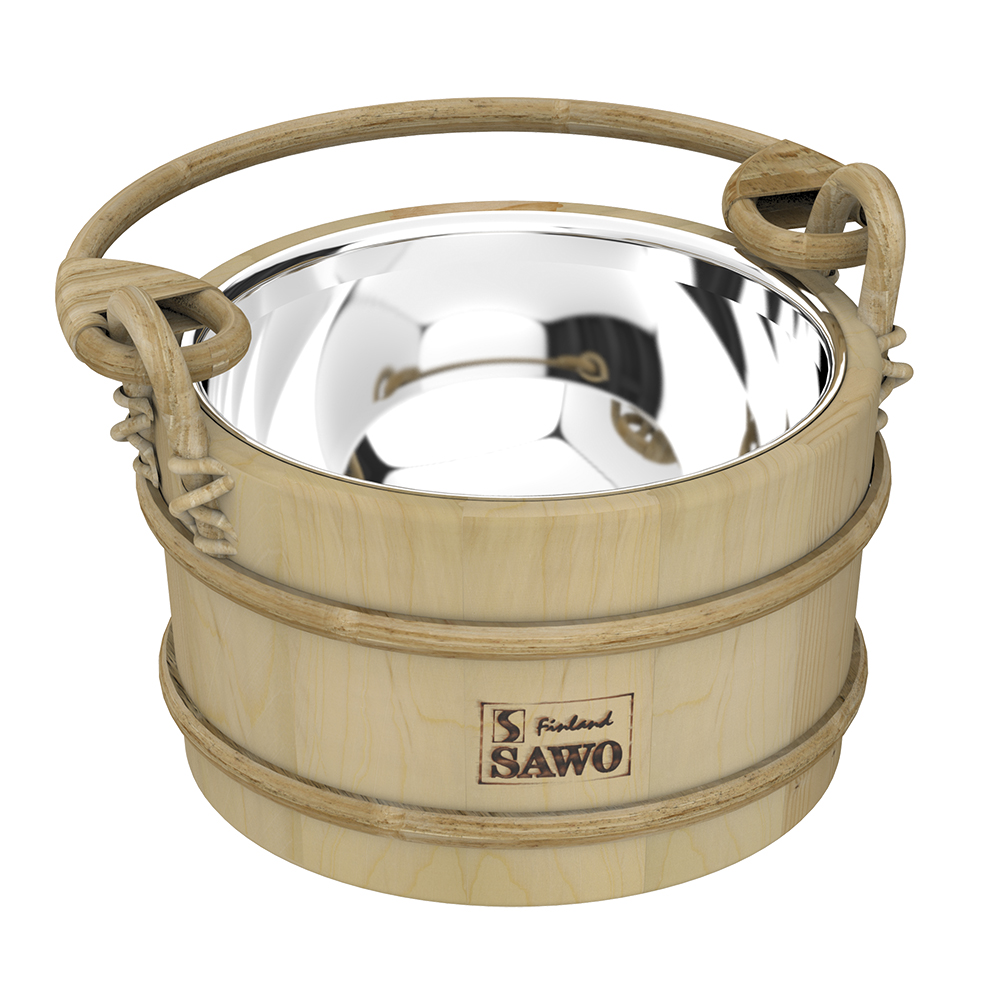 Sawo Bucket 341-MP, 3L with stainless insert, Pine