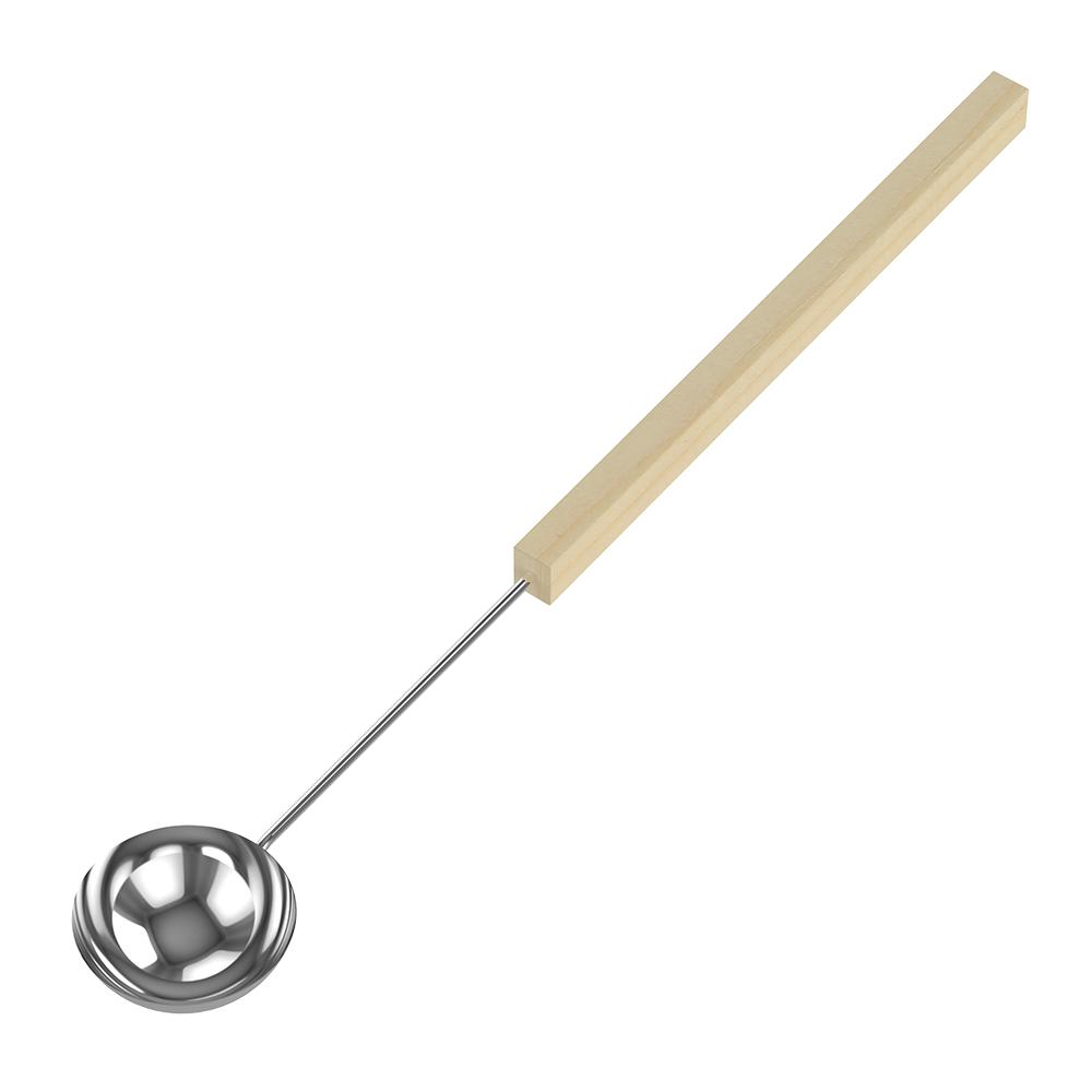Sawo Louche acier inoxydable, petit 446-MB, 70cm avec manche tilleul