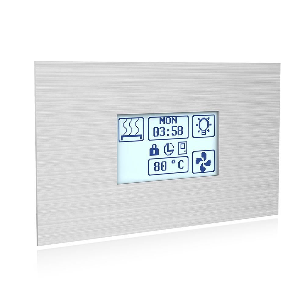 Sawo Innova Touch S, Stainless Steel, Control panel