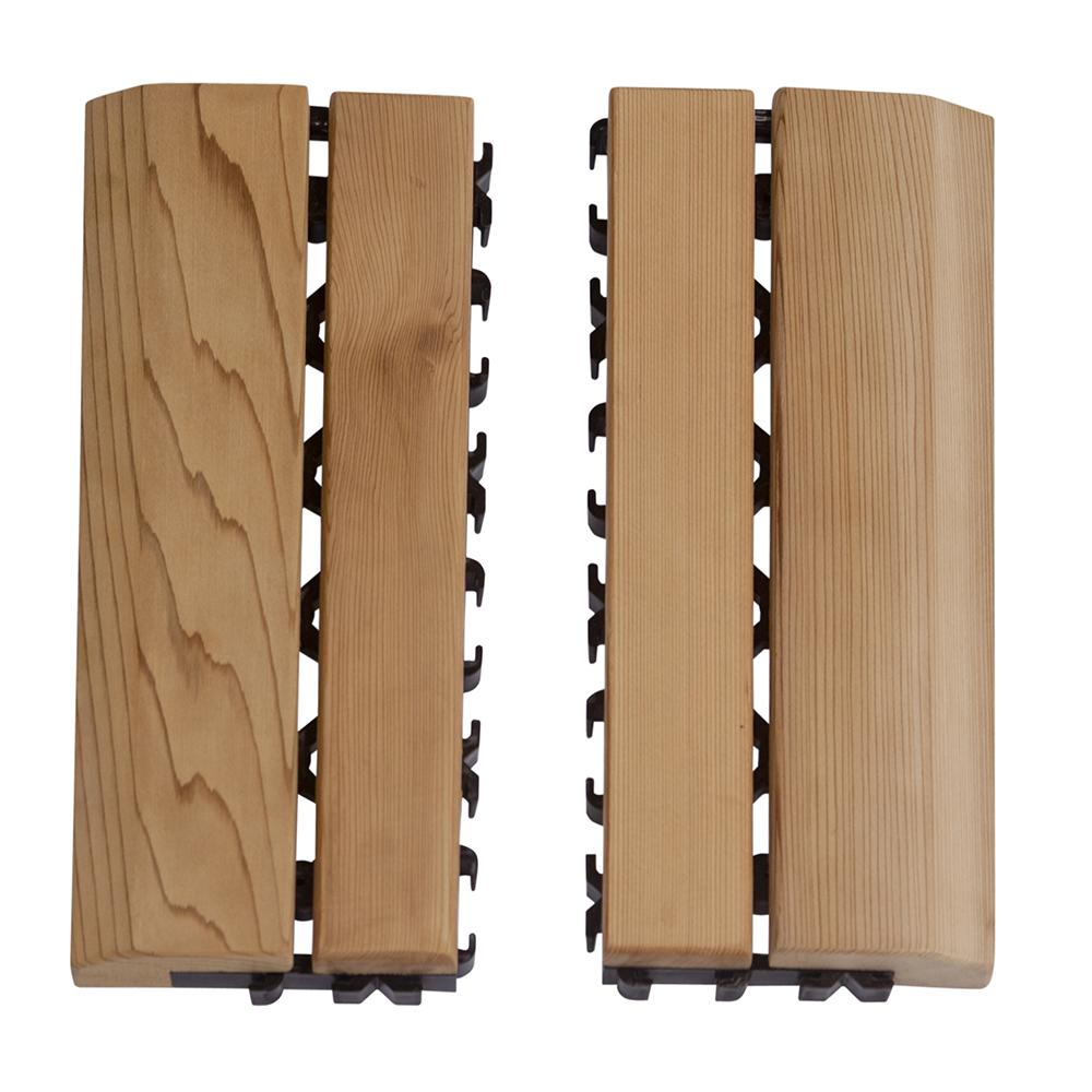Sawo Rêvetement sol en bois, kit côté, cèdre