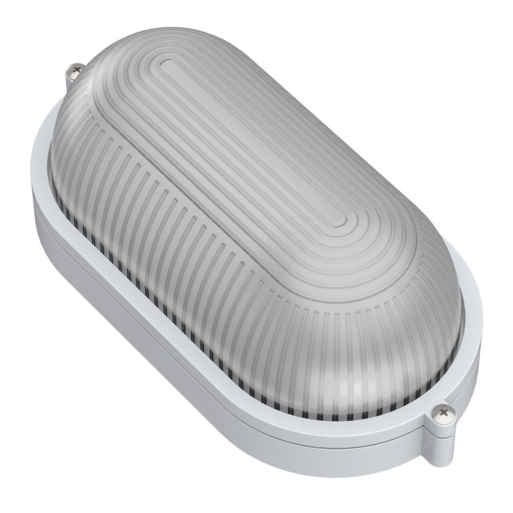 Овальная сауна лампа белого цвета