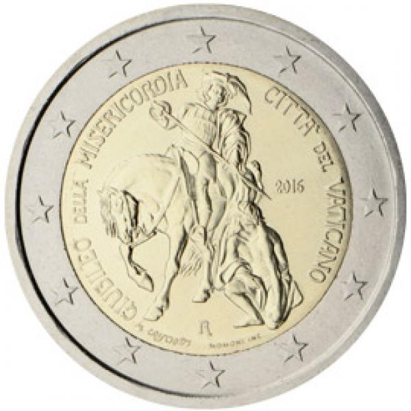 2 € юбилейная монета 2016 г. Ватикан. 200 - юбилейный год милости