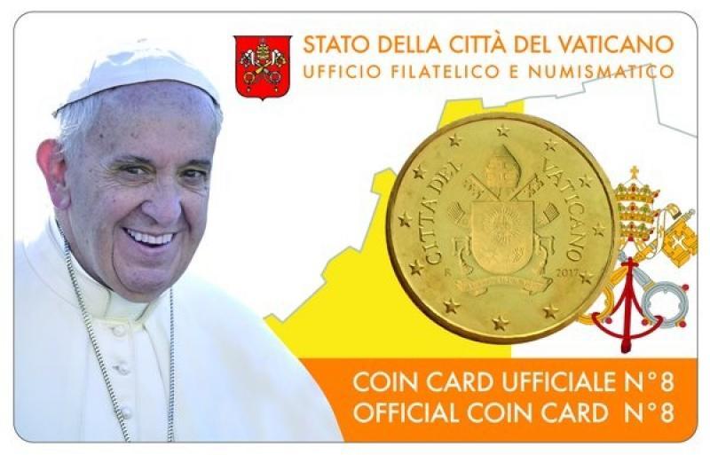 Vatikani 2017.a.  50 sendine mündikaardil
