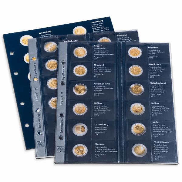 Комплект листов 2€ монеты 2013 г