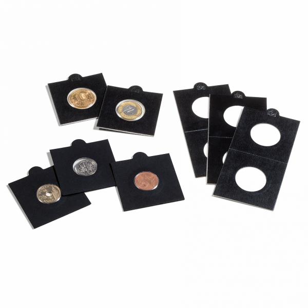 Coin holder Self-adhesive 27,5 mm, black