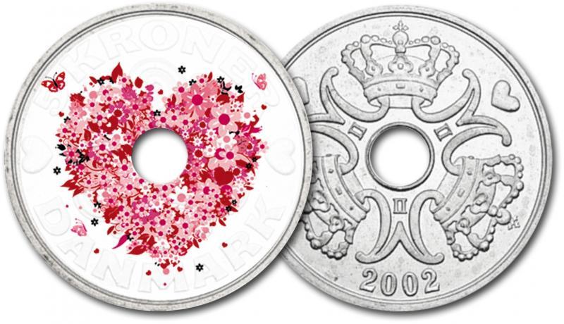"""""""Роза-символ любви"""" - медно-никилиевая монета в цвете - Розовые розы"""