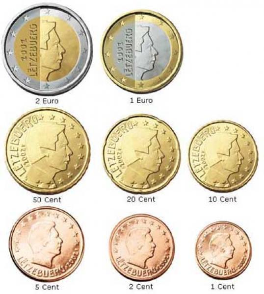 Eвро монеты Люксембург 2017- комплект