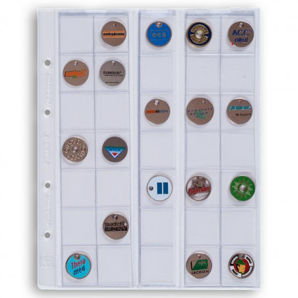 Лист OPTIMA для монет  для 35 монет до 27 мм (2 €)