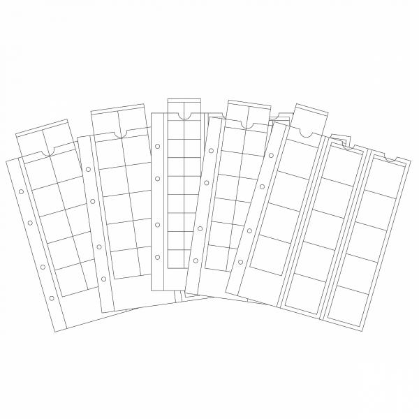 Coin sheet Optima for 24 coins up to 34 mm