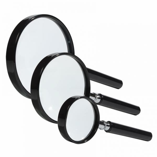 Magnifier with handle with magnification 2.5x and 5x