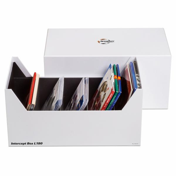 INTERCEPT L 180 box for coin sets, postcards, letters and documents up to 80 X 160 mm