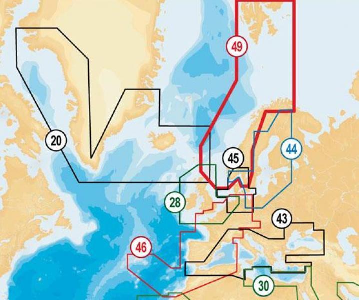 Merekaardid NAVIONICS PLUS 49XG Norra - meri + palju järvi