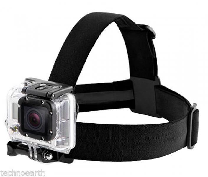 Pearihm lihtne kaamerakinnitusega EKENi, GoPro ja SJCAM seikluskaameratele, elastne, nailonist