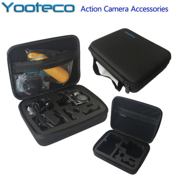Kaamerakott-karp Yooteco EKENi, GoPro ja SJCAM seikluskaameratele, tõmblukuga suletav, must