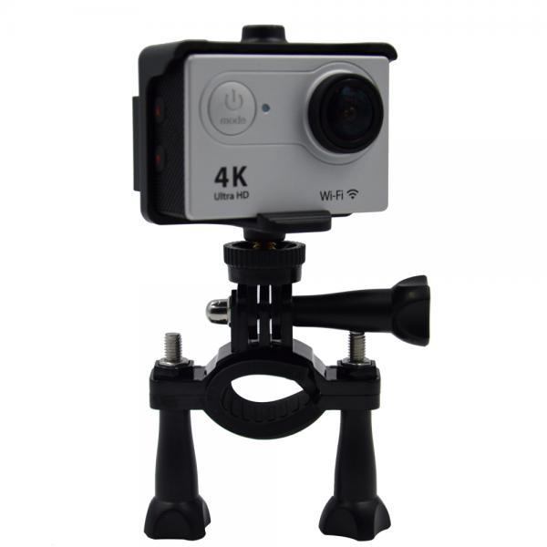 Kaamerakinnitus jalgrattale EKENi, GoPro ja SJCAM seikluskaameratele, must metall