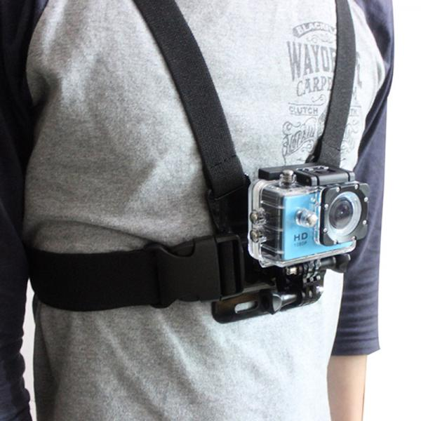 Rinnarakmed kaamerakinnitusega EKENi, GoPro ja SJCAM seikluskaameratele, elastne, nailonist