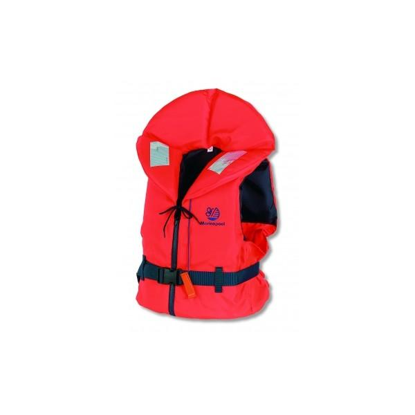Lifejacket MARINEPOOL Europe with zipper 100N Orange 90++ kg