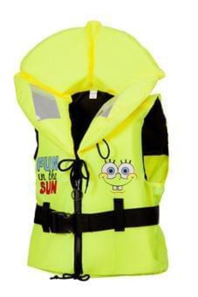 Päästevest MARINEPOOL SpongeBob (Käsna-Kalle) 100N kollane 20-30 kg