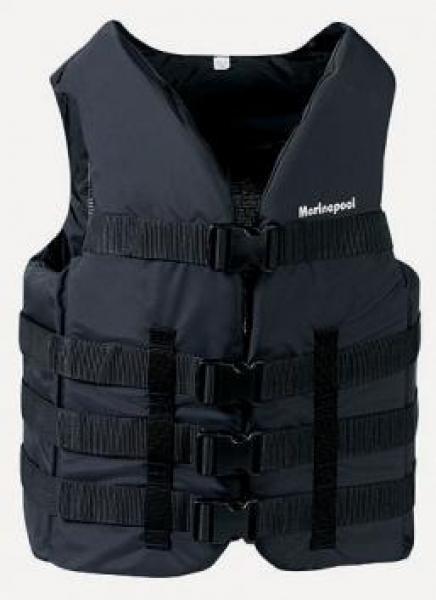 Water Ski Vest II 50N Black 90++ kg