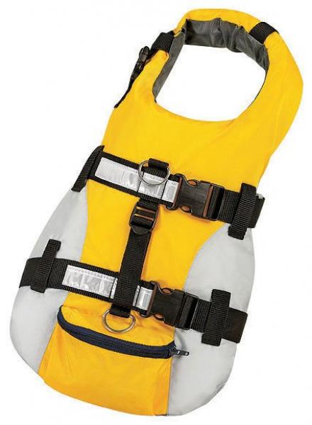 New Dog lifejacket Premium Gold/Grey M