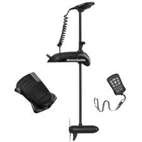 """Electric Bow Mount Wireless Control MOTORGUIDE Xi5-105FW 54"""" 36V FP Remote and Foot Steering, black, fresh water"""