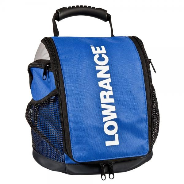 Bag LOWRANCE for older Elite/Hook/HDS fishfinders with blue connector ice transducer, power cord, 7Ah battery and charger