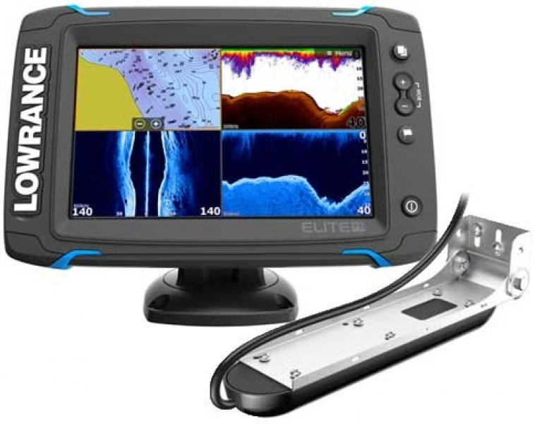 Fishfinder combo LOWRANCE ELITE-7 Ti High/mid/Totalscan