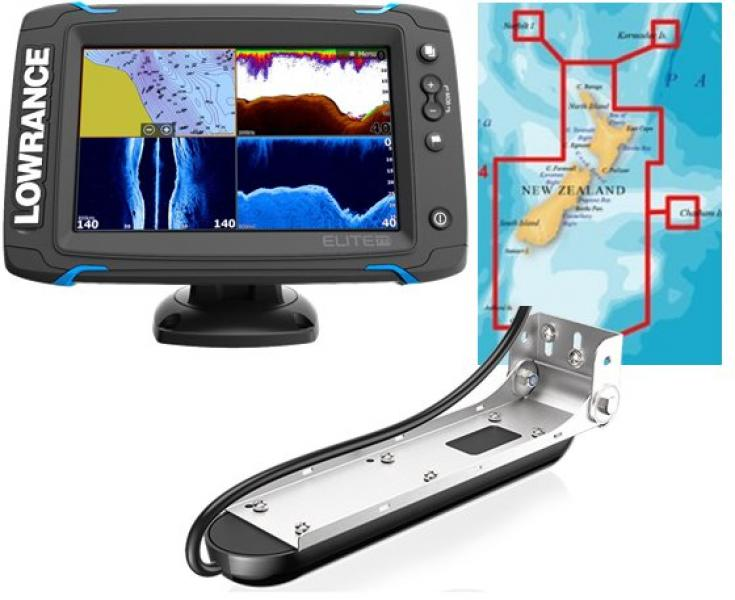 Fishfinder combo LOWRANCE ELITE-9 Ti High/mid/Totalscan