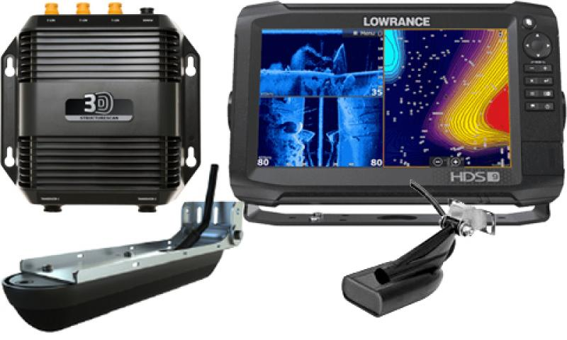 Fishfinder combo LOWRANCE HDS-9 Carbon ROW Med/High Structurescan 3D bundle