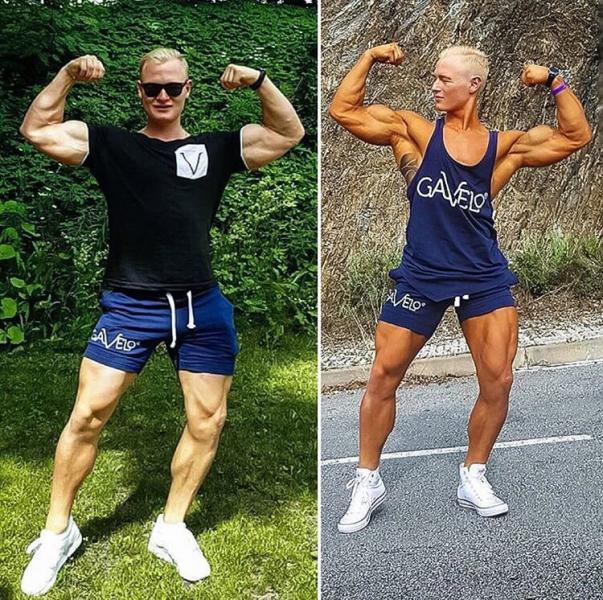 VICTORY BLUE men shorts