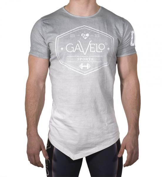 Gavelo Sports Tee Grey White Dip dye - Men