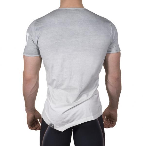 Spordi ja vaba-aja särk meestele Sports Tee Grey White Dip dye - Men