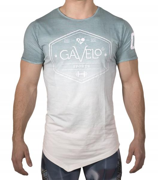 Gavelo Sports Tee Ocean Green/White Dip dye - Men