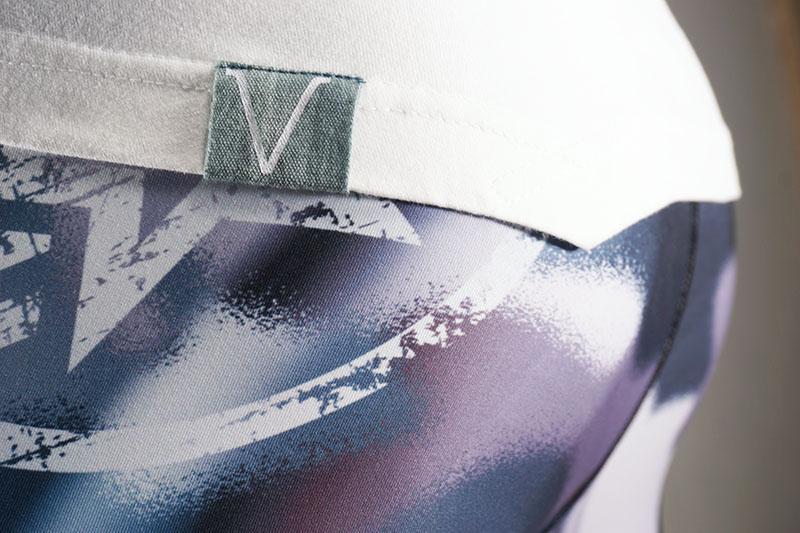 Spordi- ja vabaaja pluus meestele Sports Tee Ocean Green/White Dip dye - Men