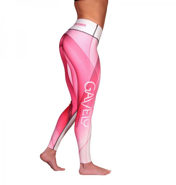 SUMMER WAVES pink leggings