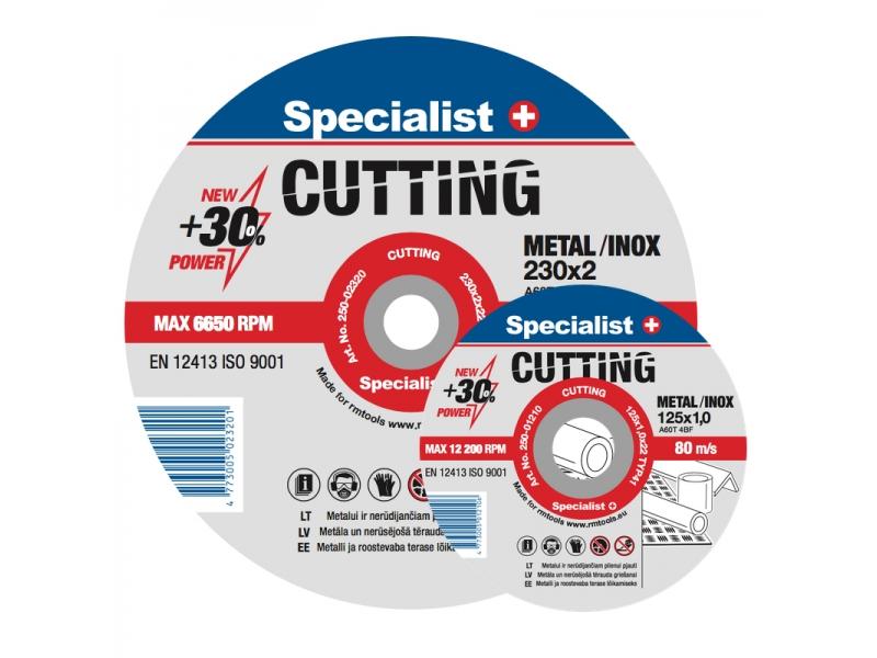 Metallilõikeketas Specialist Cutting 125x1x2..
