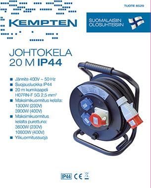KAABLITRUMMEL 20M/ 2X230V 1X400V, H07RN-F 5X2..