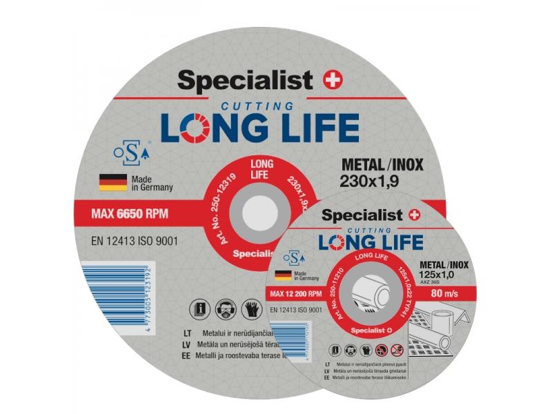 Metallilõikeketas LongLife 125x1x22