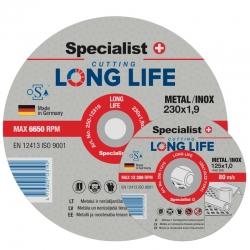 Metallilõikeketas LongLife 230x1,9x22