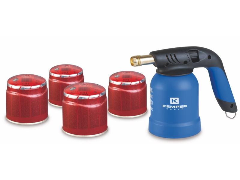 Gaasipõleti KEMPER + 4 gaasi 190g, piezo